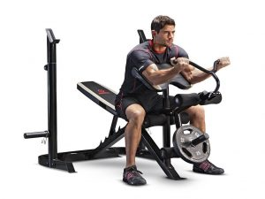 Marcy Adjustable Olympic Weight Bench with Leg Developer and Squat Rack MD-879 Reviews